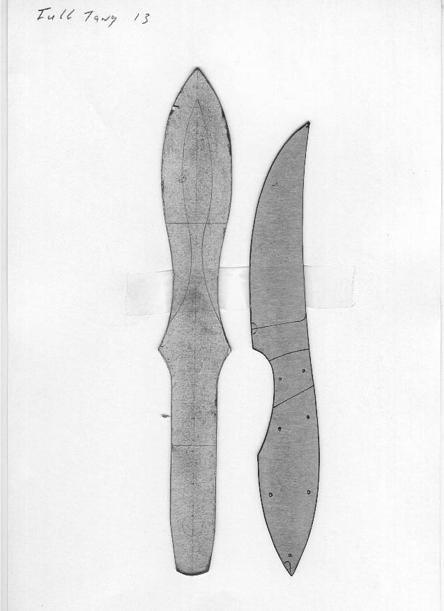 It is an image of Printable Knife Templates in hunting knife